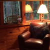 Reading area on the sleeping porch