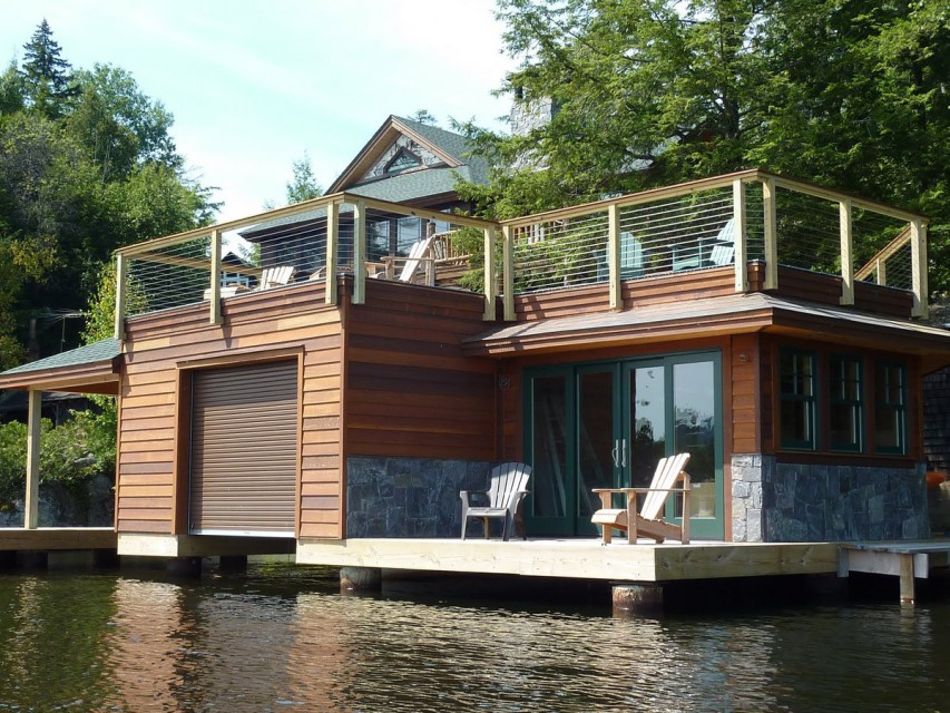 "BEAUTIFUL NEW HOME ON THE WATER, Upper Saranac Lake (VR5400) | Adirondack ""By Owner"", LLC"