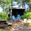 Lean-to Island - canoe/swim dock -trail to Main House