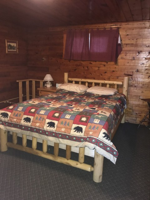 Master bedroom in lodge