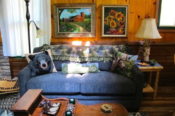 Full size sleeper sofa in Great Room