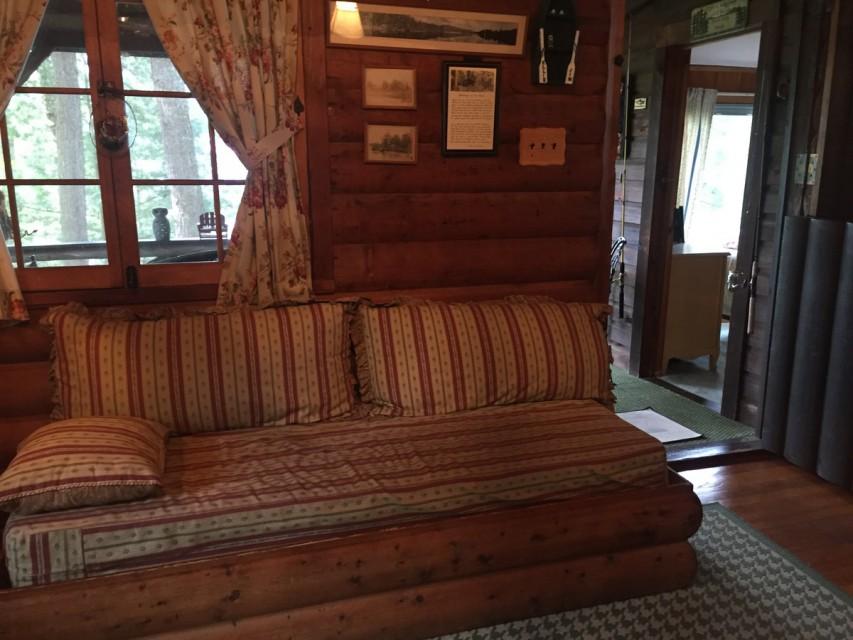 Dutch Door open to Porch and Bedroom.