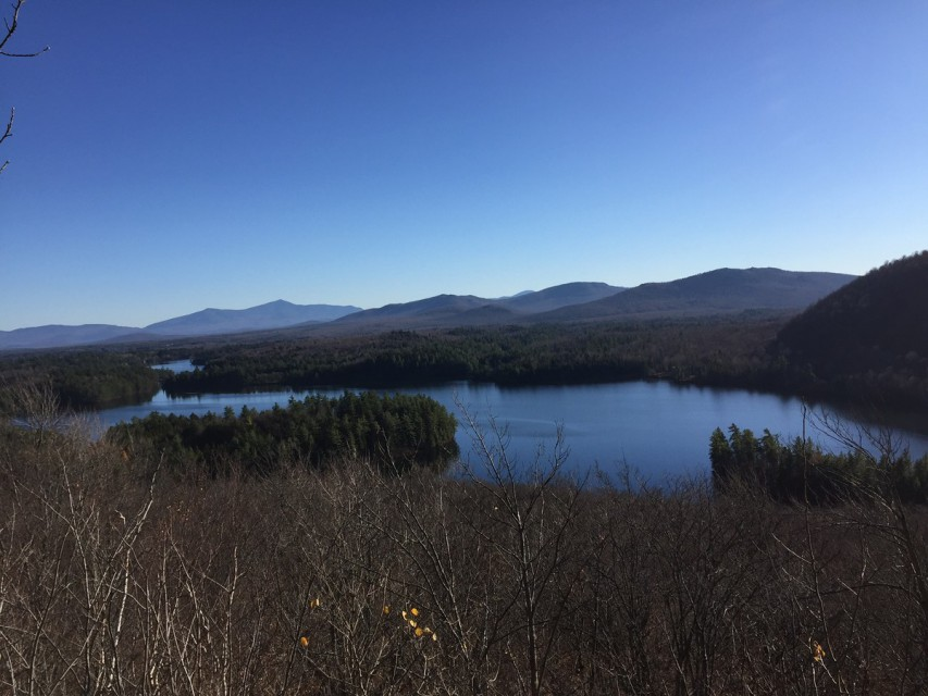 A view of Loon Lake from atop The Bump (a local hike).