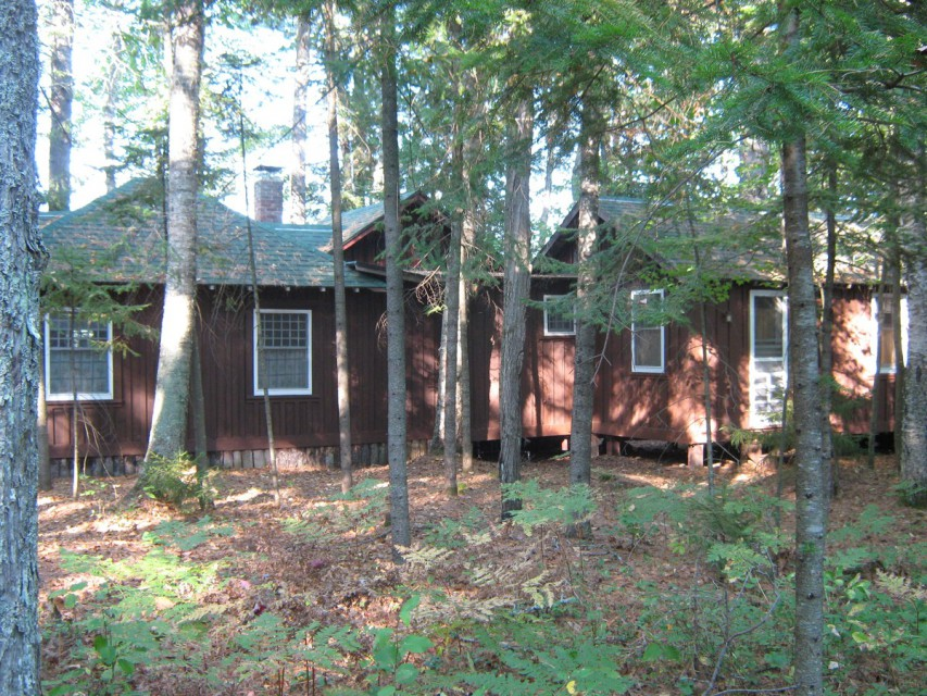 Land side of Crannoch cabin.