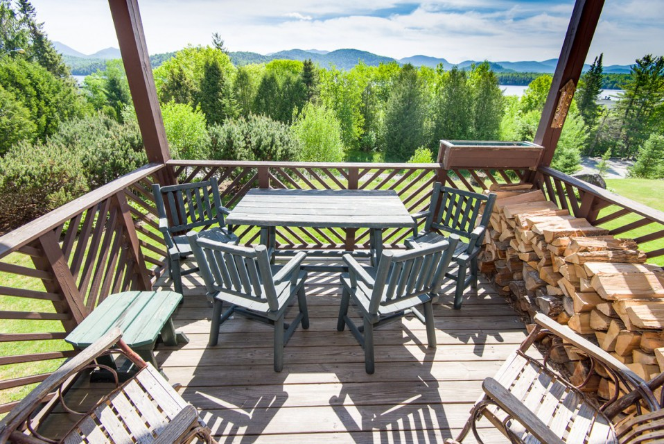 Our outside deck with stunning views...