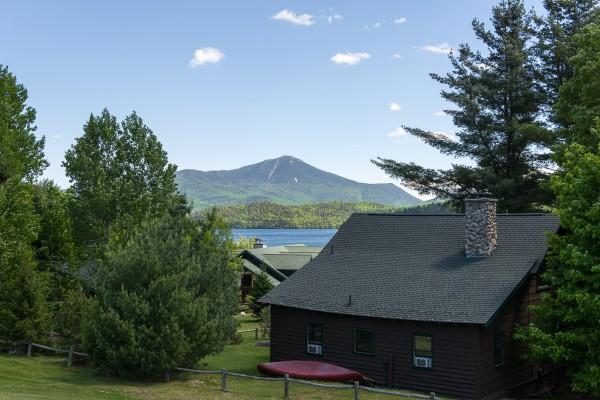 A great view from our resort: Lake Placid & Whiteface!