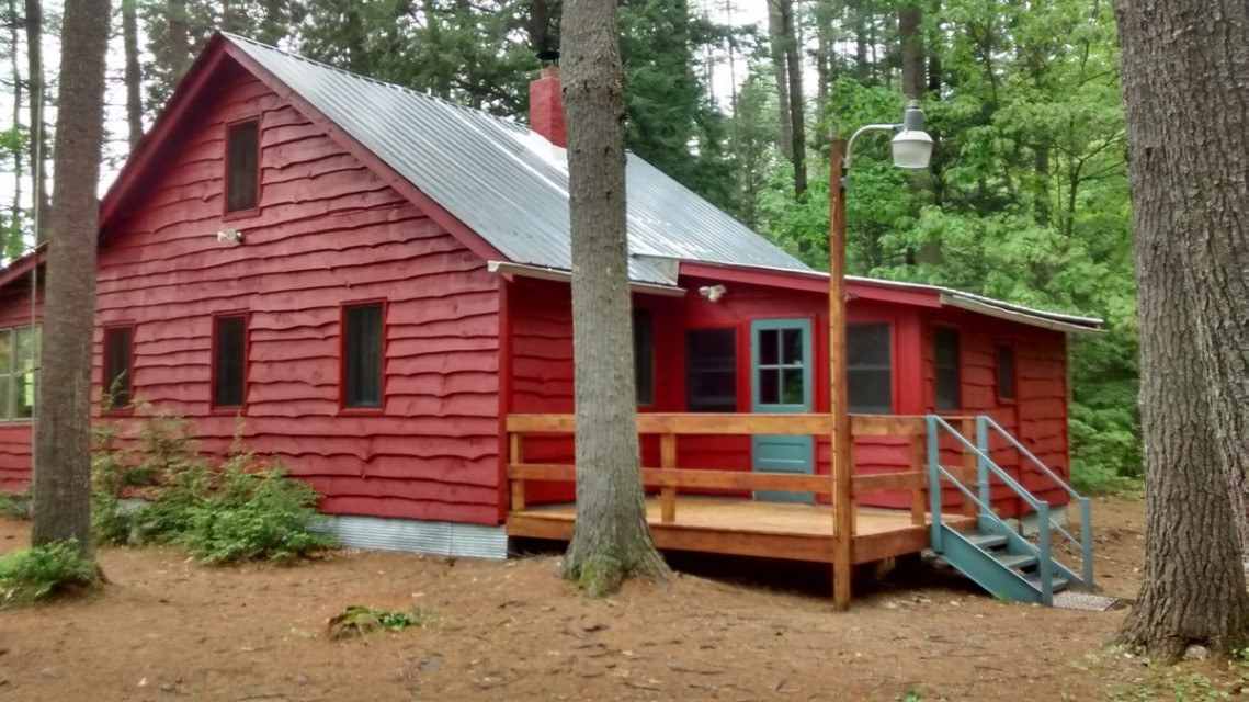 Cabin and back porch.