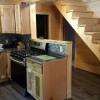 Kitchen, Bathroom door and downstairs bedroom door