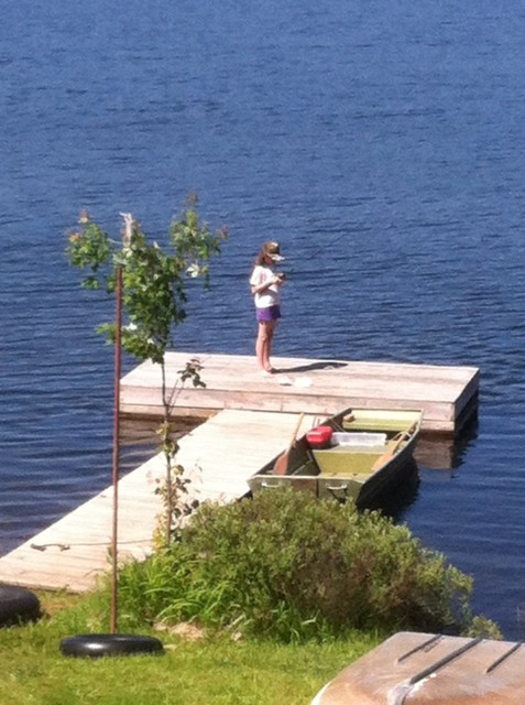 Danni's favorite, fishing from the dock