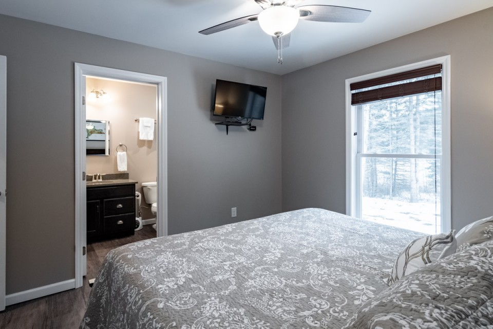 Master BR with King bed and ensuite on 1st floor.