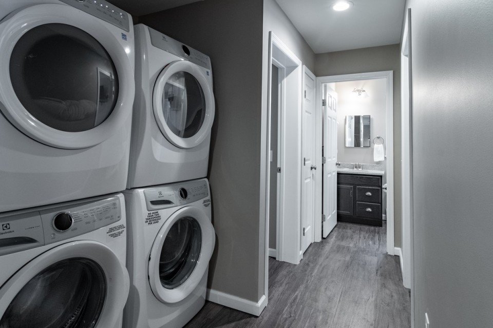1st floor washer and dryer for you to use.