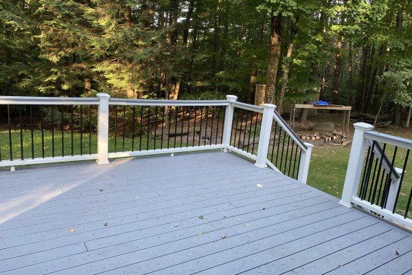 Deck off Dining area, steps leading into yard