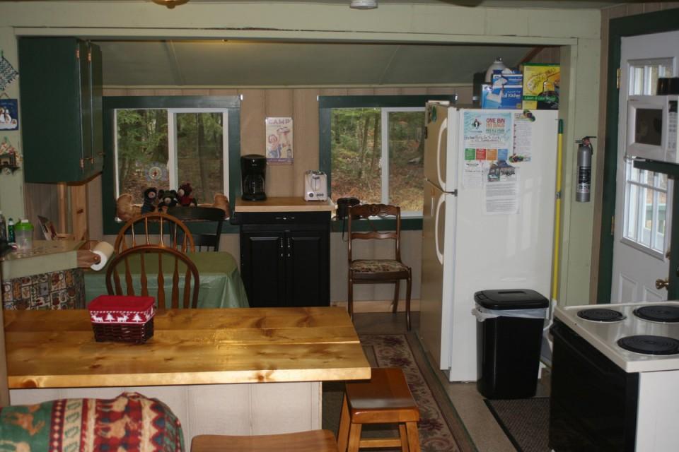 Kitchen with door to deck