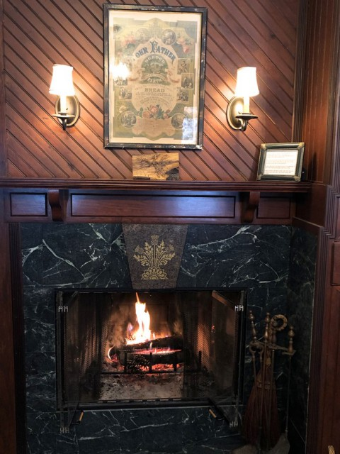 One of 2 Fireplaces