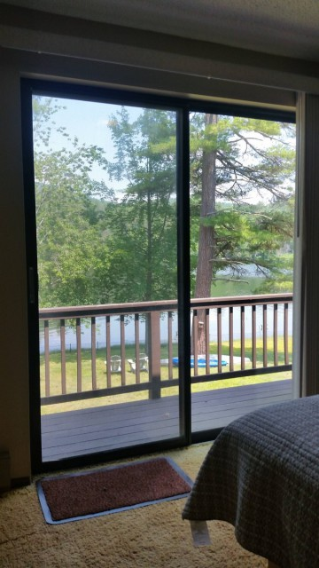 lake view from master bedroom