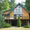 Adirondack chalet with screened-in porch, front deck