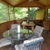 Let the fun unfold - screened in porch with fan + light