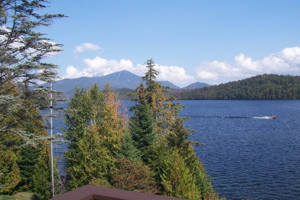 Our spectactular view, of Lake Placid & Whiteface!