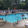 Renters enjoy heated pool at Medcalf Acres Campground