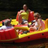 Lazy rivier tubing on the Schroon River
