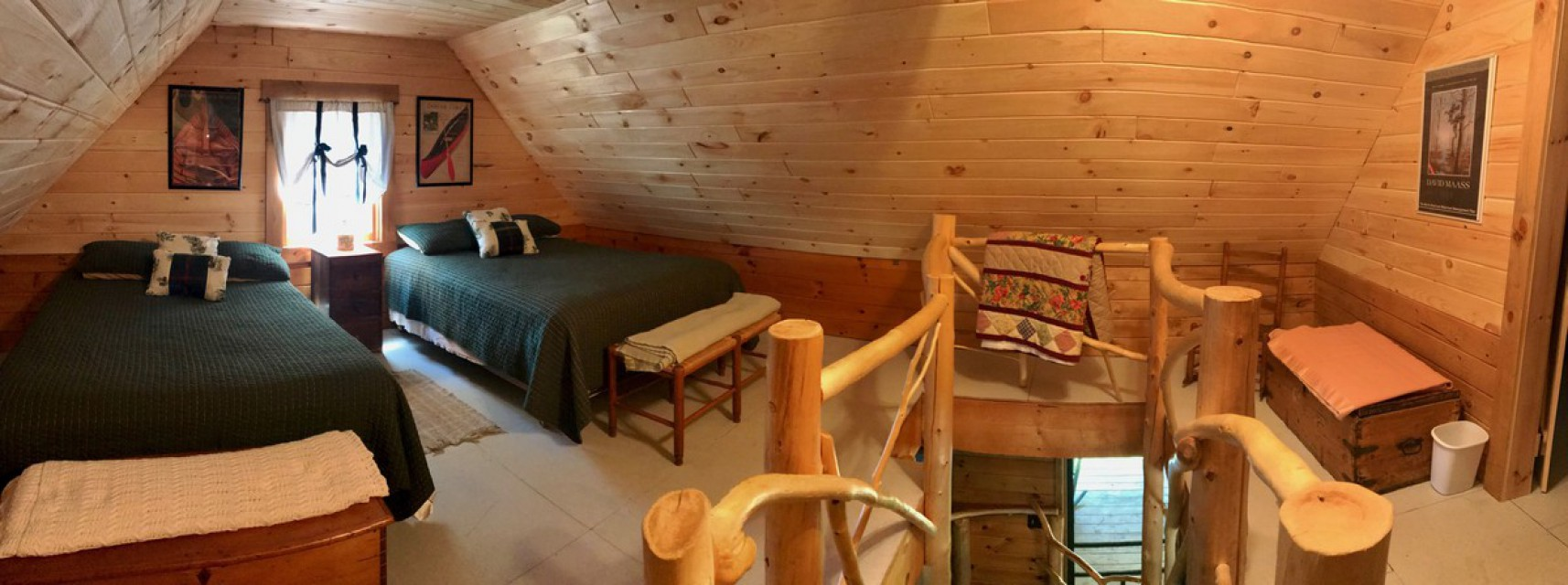 Two double beds in the loft