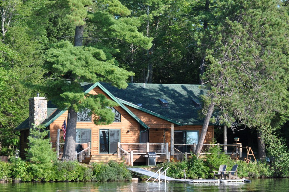 Camp Twin Oaks from the lake