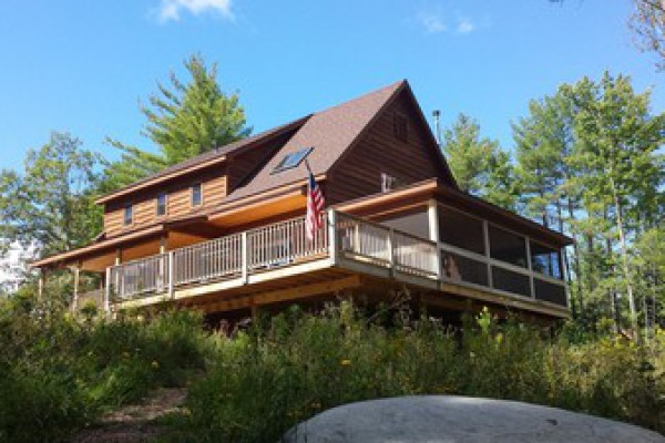 Sun Deck and Large Screened-in Porch with lake view