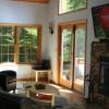 Living Room, 50' TV, Stone Fireplace (wood burning)