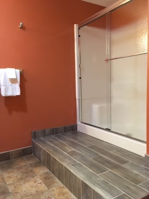 Delight in the  brand new shower on the lower level!