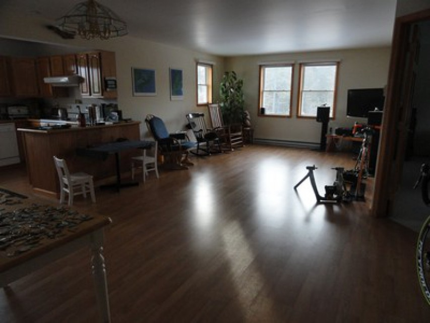 Open Living Room & Dining Room