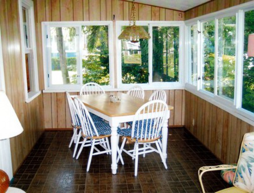 Part of enclosed porch