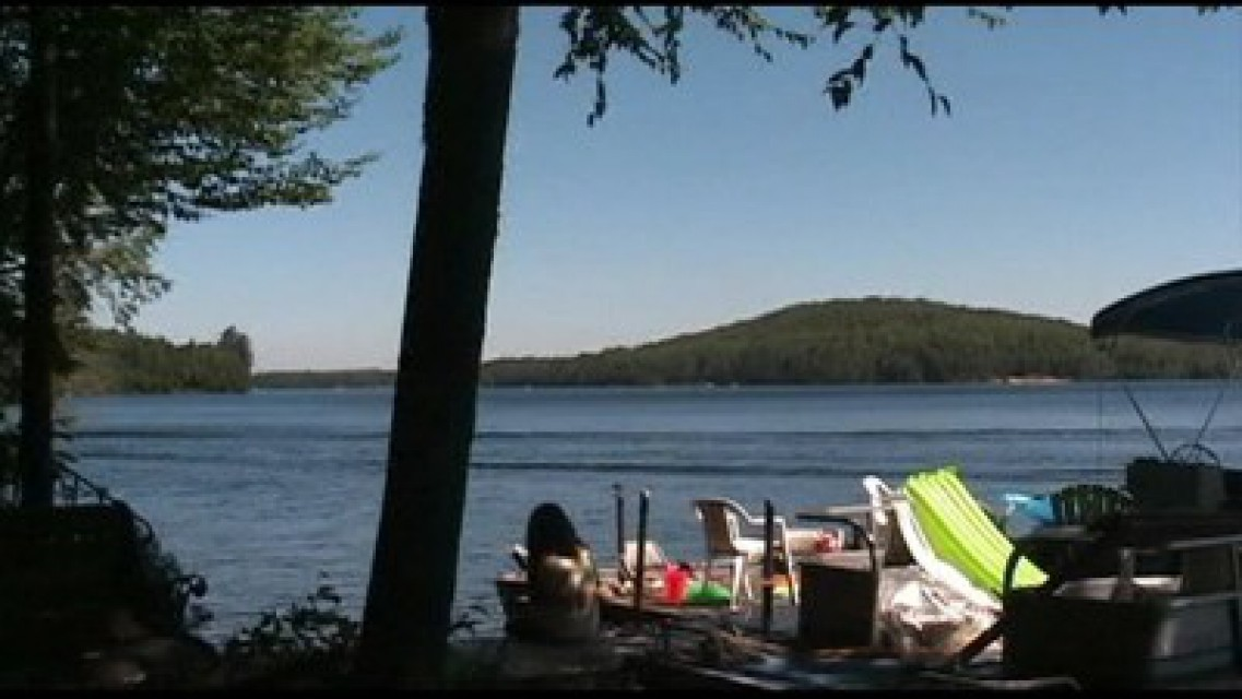Quiet time; Looking towards Cranberry Lake village