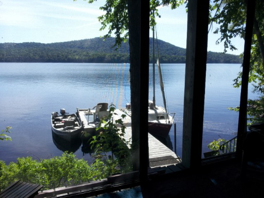 Your boat here: View from the screen porch