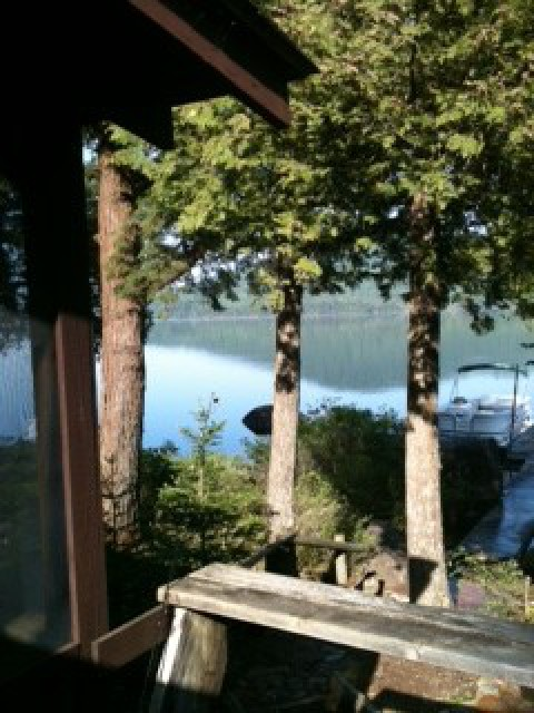 View from front porch on a calm morning
