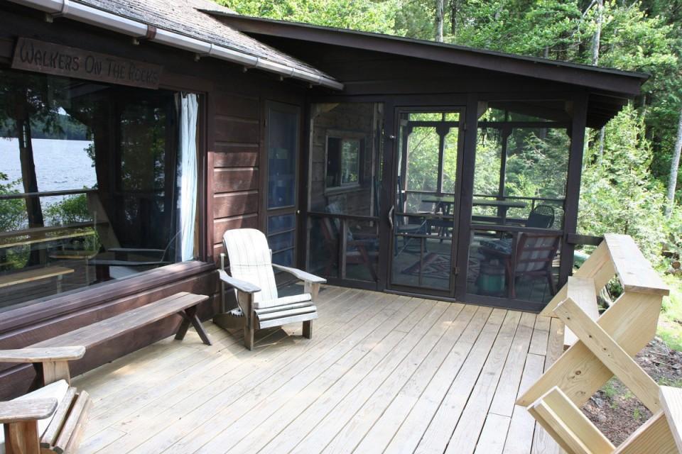 Deck facing eating porch.
