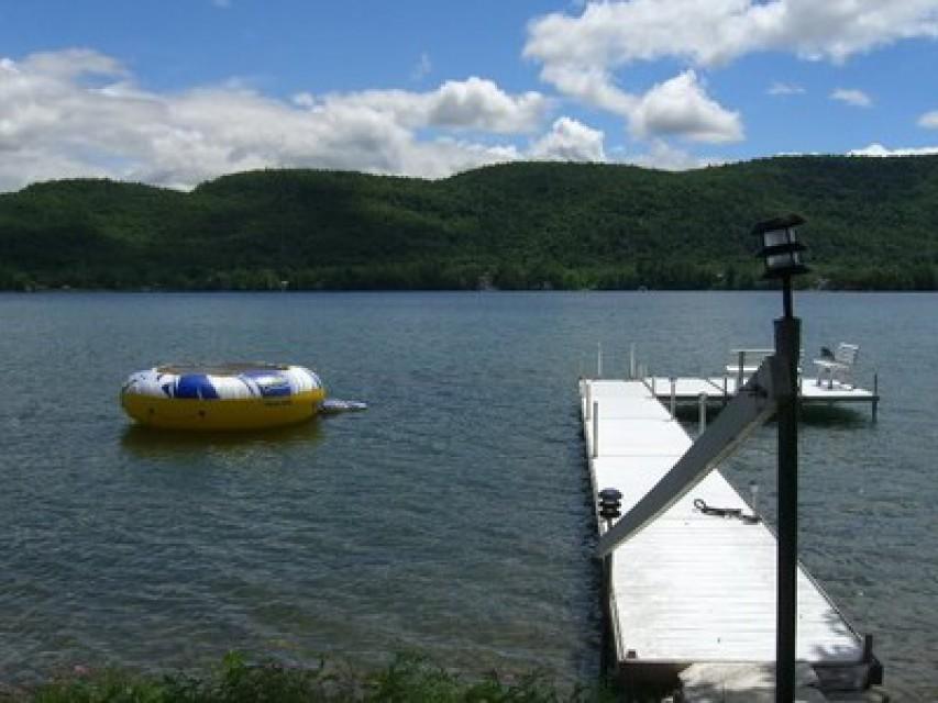 Our dock with swim/sunbathing platform