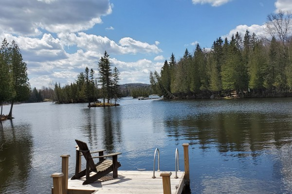 Dock and lakefront - 15 feet from the cabin