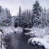 Frosty view of the St. Regis River along Keese Mill Rd.