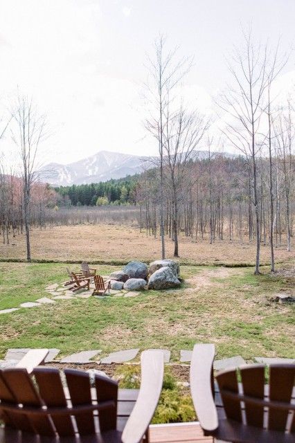 View of Whiteface Mtn from the deck and hot tub