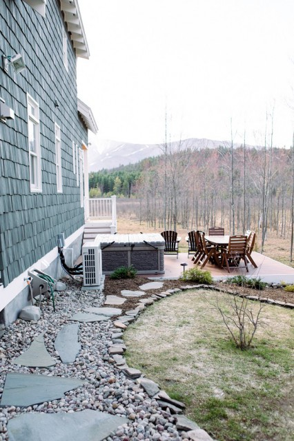 View of the hot tub & outdoor furniture