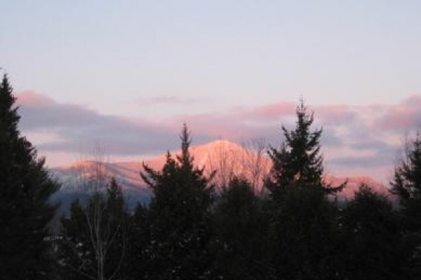 Whiteface Mountain in the winter from our condo!
