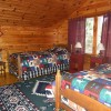 Large double twin bedroom with vaulted ceilings