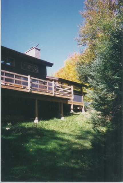 Large deck and the house