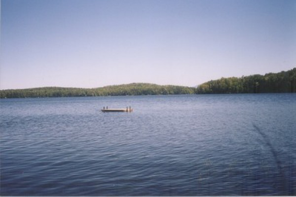 The lake from the dock