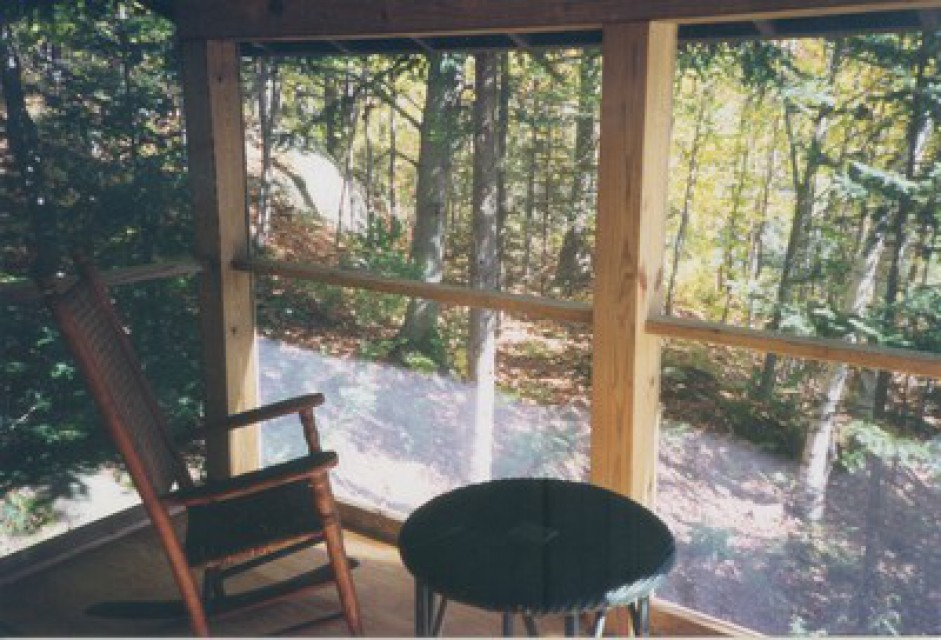 The dining and relaxing porch