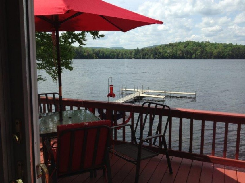 Relax on the deck as you watch the fish jump!