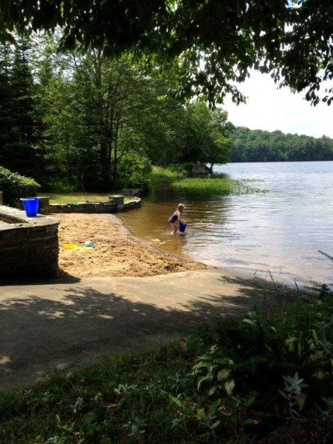 Our own private beach and boat ramp!