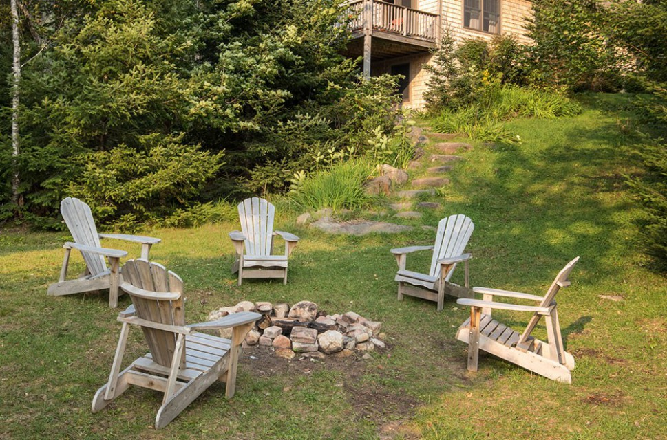 ADK CHAIRS AROUND THE FIREPIT