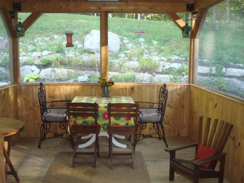 Screen Porch and Perennial Garden