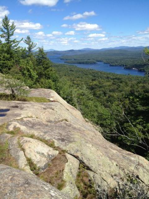 Top of Bald Mountain.   A 25 min drive; 30 min hike